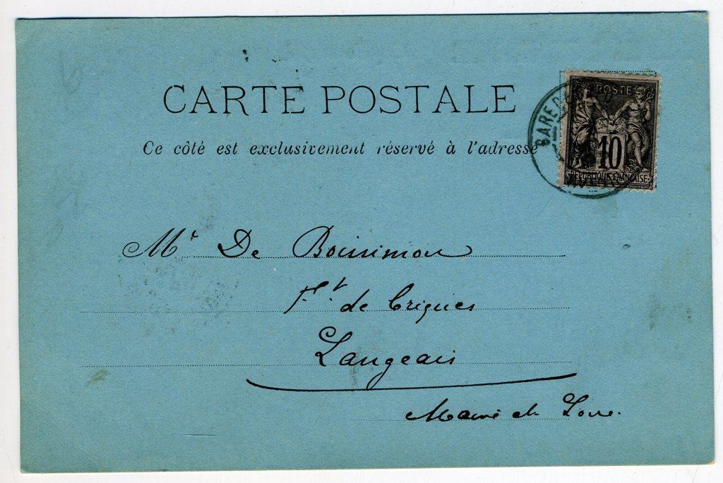 PRECURSEURS ENTIERS POSTAUX - CARTE POSTALE PRIVEE. (ré... - VENTE DE LINGE ANCIEN, TIMBRES ...