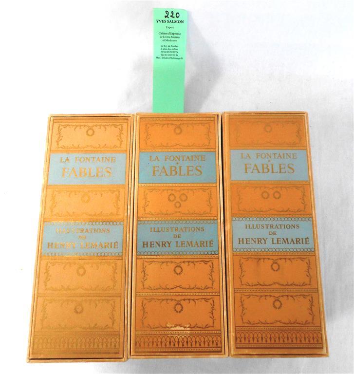 [LEMARIE] LA FONTAINE Fables. Avec 60 Miniatures De Henry