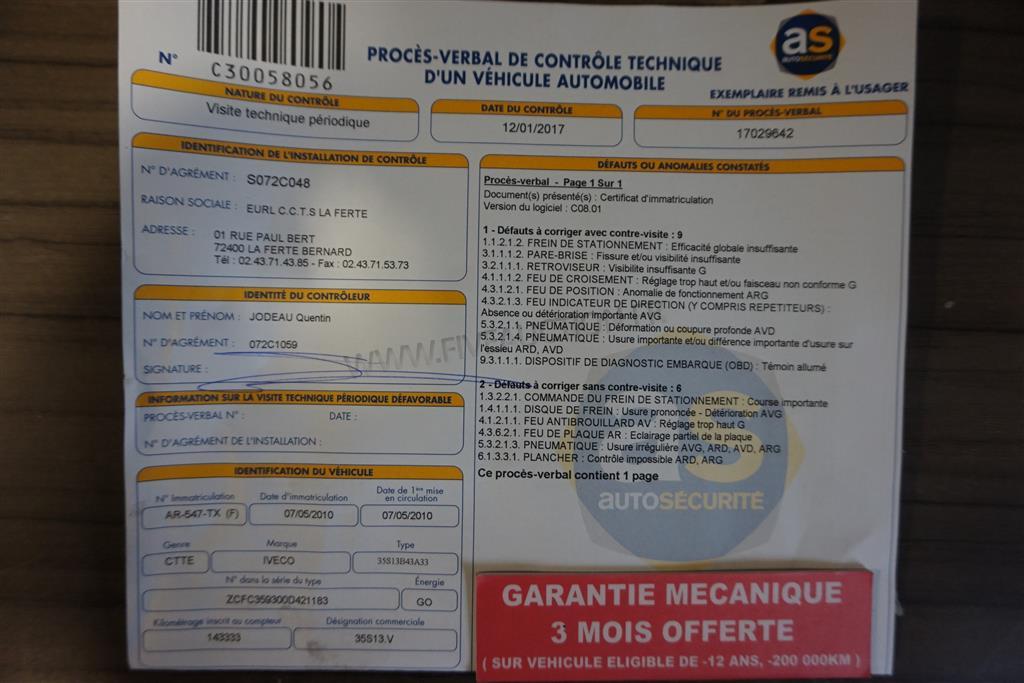 2599 - iveco daily 35s13 l2h2 - vente de vehicules utilitaires et tourismes